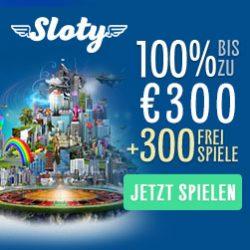 Sloty Casino Willkommensbonus