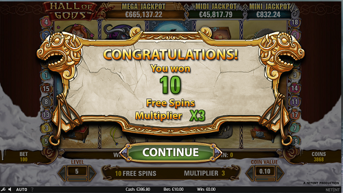 Spielautomaten Jackpots Hall of Gods