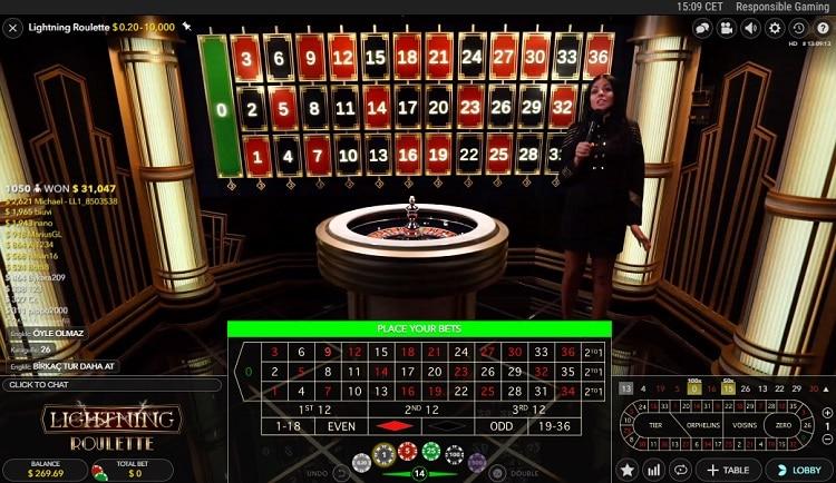 Live Casino Lightning Roulette
