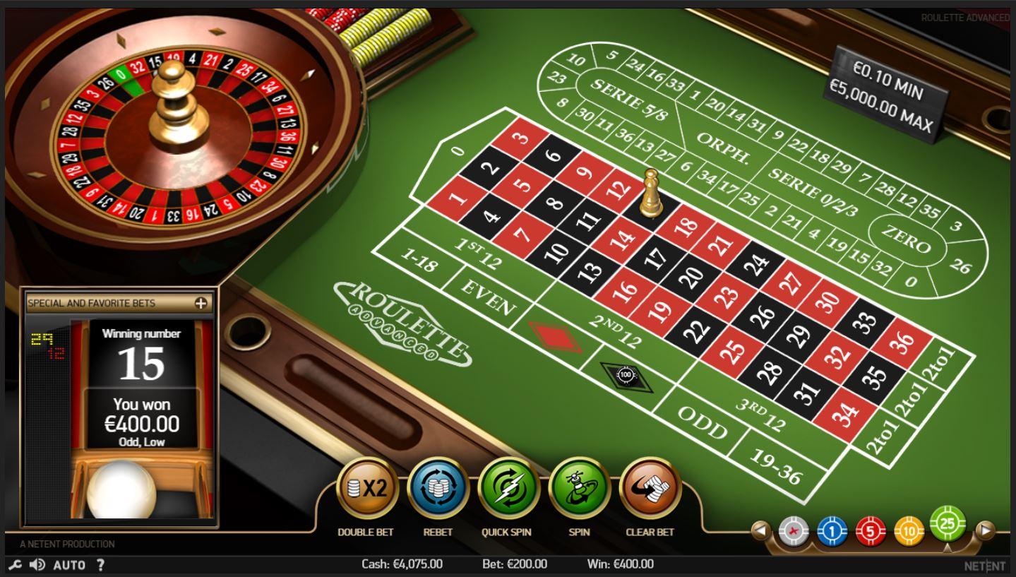 Live Roulette gewinn